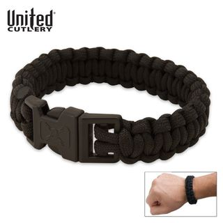 Elite Forces M48 Paracord Survival Bracelet Black,...