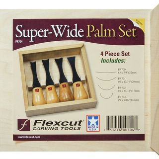 Flexcut Super-Wide Palm Set - 4 Schnitzmesser zur...