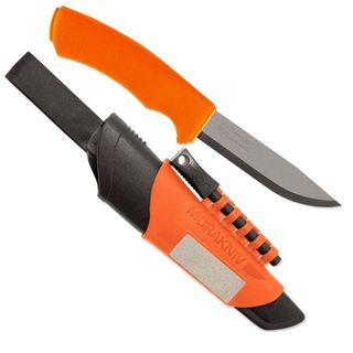 Morakniv Bushcraft Survival Gürtelmesser, orange,...
