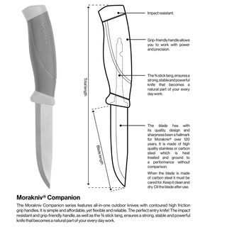 Morakniv Companion olive/schwarz MG Army Model Carbonstahl, M-11863