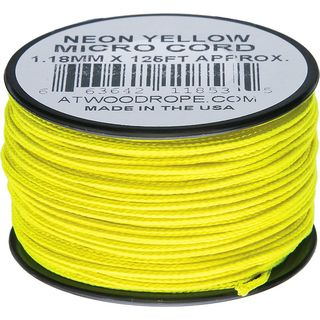 Atwood Rope MFG - Micro Cord Hightech-Schnur in neongelb,...