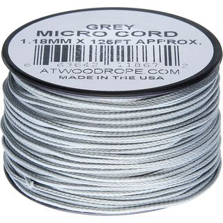 Atwood Rope MFG - Micro Cord Hightech-Schnur in grau,...