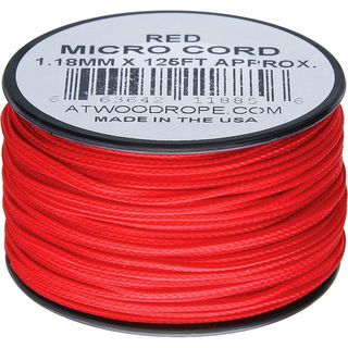 Atwood Rope MFG - Micro Cord Hightech-Schnur in rot, 1,18...